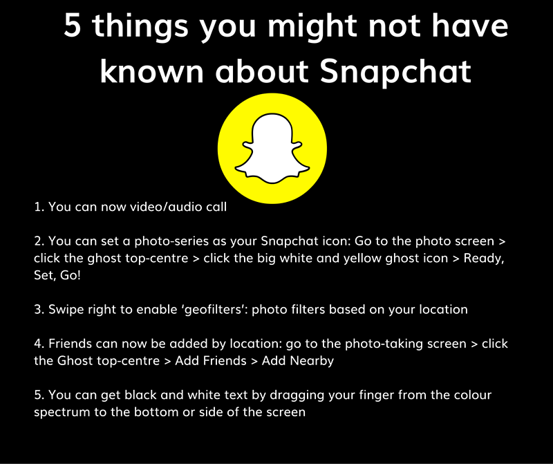 5_things_you_might_not_have_known_about_SnapchatYou_can_now_video-audio_callYou_can_set_a_photo-series_as_your_Snapchat_icon-_Go_to_the_photo_screen_-_click_the_ghost_top-centre_-_click_the_big_white_and_yellow_ghost_icon_-_Ready_Set__1.png