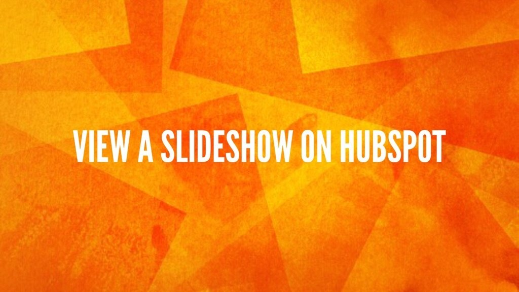 HubSpot And overview of the features slideshow