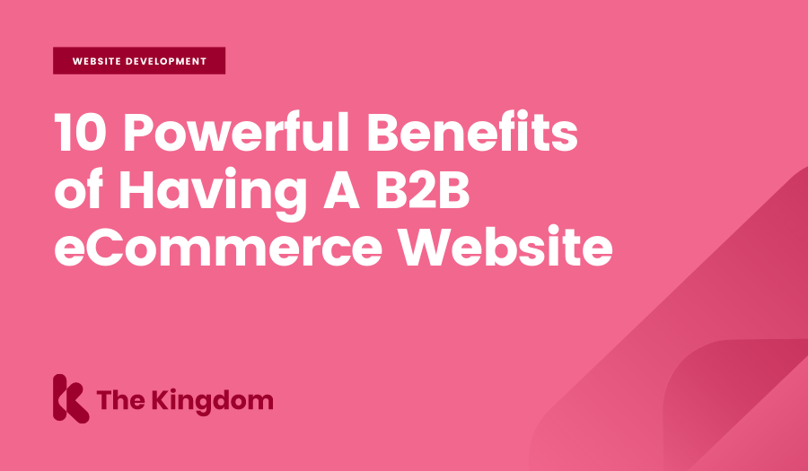 10 Powerful Benefits of Having A B2B eCommerce Website