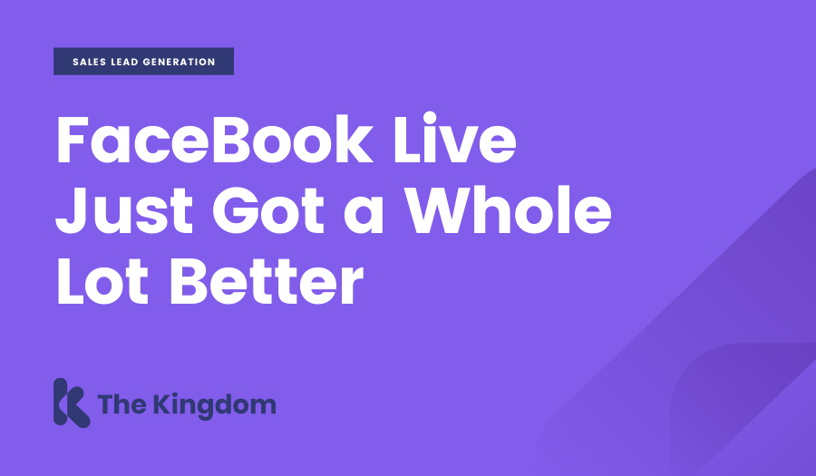 FaceBook Live Just Got a Whole Lot Better