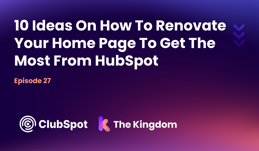 Ep 27 - 10 ideas on how to renovate your page