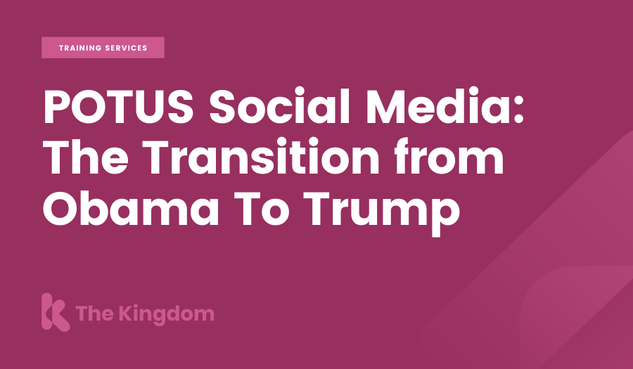 POTUS Social Media: The Transition from Obama To Trump