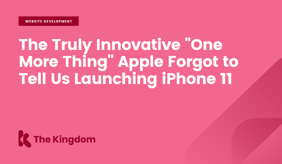 """The truly innovative """"one more thing"""" Apple forgot to tell us launching iPhone 11"""